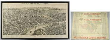Birds Eye View Maps Lot 259 1888 Birdseye View Nashville Map Plus 2 Streetcar Maps