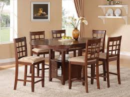 6 Seat Kitchen Table Furniture Light Brown Farmhouse Dining Room Feature Oval