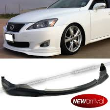 lexus visa pu for 06 07 08 is250 is350 f sport style pu front bumper chin lip