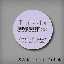 Stickers For Favors by Thanks For Poppin By Wedding Favor Stickers Popcorn Favors Labels