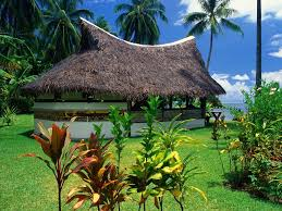 the bungalows of moorea island
