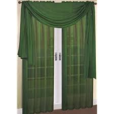 Green Sheer Curtains Luxurydiscounts 2 Solid Green