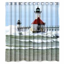 Waterproof Fabric Shower Curtains Lighthouse Shower Curtains Shower Curtains Outlet