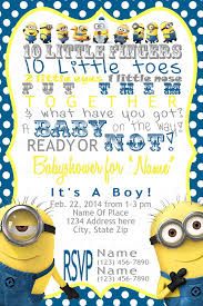 minions baby shower minion inspired baby shower invitation minion baby shower