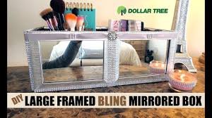 Dollar Store Shoe Organizer Dollar Tree D I Y Large Brush Silver Framed Mirrored Box 9