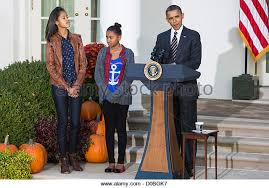 president obama daughters malia stock photos president