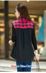cool barbie ethnic 2015 spring korean video thin checkered shirt