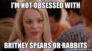 Britney Meme - i m not obsessed with britney spears or rabbits make a meme