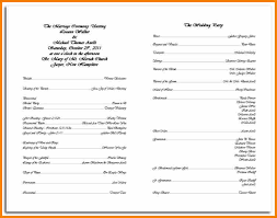 Printable Wedding Programs Free Emejing Catholic Wedding Program Templates Pictures Bestwedding