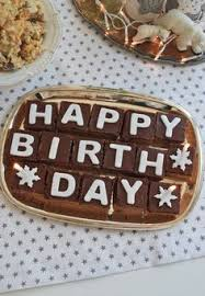 dominik geburtstagsfeier brownie birthday cake great idea food