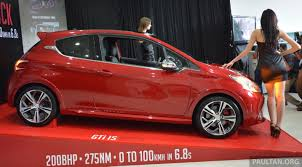 peugeot 208 red peugeot 208 gti launched in malaysia u2013 rm139 888 image 203847