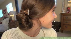 hairstyles to hide ears that stick out 4 ways to do cute middle school hairstyles wikihow