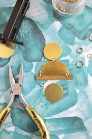 3d Hole Murals 3d Cake Image Geometric Gold Statement Earring Diy A Beautiful Mess Bloglovin