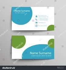 modern simple business card template vector stock vector 231812368
