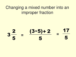Mixed Fractions Worksheet Changing Mixed Numbers To Improper Fractions Converting Mixed