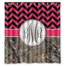 Monogram Shower Curtains Pretty Pink Chevron Shower Curtain Designs