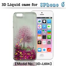 moving glitter liquid phone case with inside 3d lenticular picture