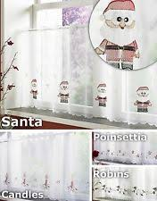 Christmas Kitchen Curtains by Polyester Christmas Kitchen Curtains U0026 Blinds Ebay
