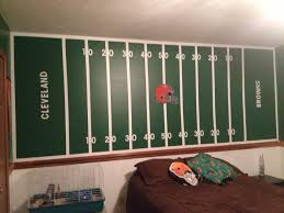 jake u0027s cleveland browns football field wall jake u0027s room and