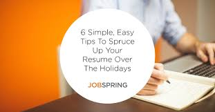 How To Update A Resume Examples Blog Post 6 Reasons To Spruce Up Your Resume During The Holidays