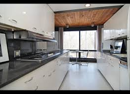 Modern Galley Kitchen Ideas by Simple Small Modern Galley Kitchen Come With Brown Color Wooden