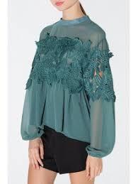 green chiffon blouse lace patchwork green chiffon blouse green blouses s zaful