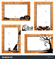 halloween border design halloween frames design stock vector