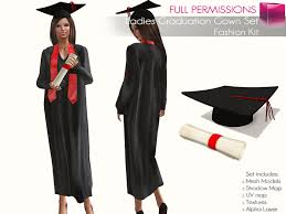 graduation gown second marketplace perm rigged mesh graduation