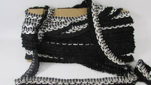 Upholstery Edging Vintage Black And White Rayon Loop Upholstery Trim Vintage Trim