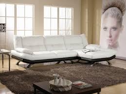 canapé d angle blanc et noir canapé angle bi ton miranda
