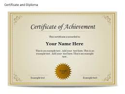 certificate templates gaduationpowerpoint certificate template