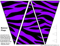 Purple Flag Purple Zebra Birthday Party Printables Food Tent Cards Diy Cupcake