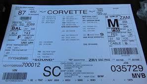 corvette build sheet 2009 corvette zr1 1g1yy26r295700012