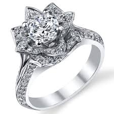 lotus engagement ring lotus ring 8 petal 1 00 ct diamond band flower ring bbr588