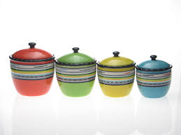 colorful kitchen canisters decorative kitchen canisters and jars