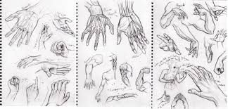 study sketch hands by cthulhu great on deviantart