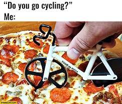 cutter de cuisine do you go cycling me yes cutting pizza with bike cutter tour de
