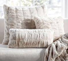 faux fur pillow cover pottery barn wish list pinterest fur