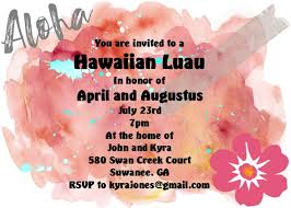 luau tropical and beach party invitations new selections winter 2017