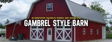 gambrel style roof gambrel style steel barns worldwide steel buildings