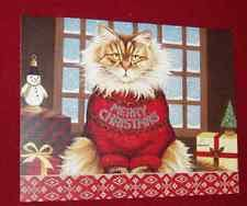 cat christmas cards ebay