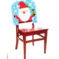Chair Back Cover Mr And Mrs Santa Claus Seat Cover Christmas Holiday Chair Covers