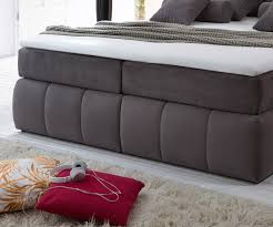 Schlafzimmer Bett Mit Matratze Bett Brasilia Grau 180x200 Cm Mit Matratze Und Topper Boxspringbett