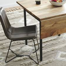 solid wood drop leaf table and chairs elegant box frame drop leaf expandable table west elm of dining with