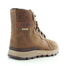 cat stiction hi p720448 mens waterproof leather boots brown sugar