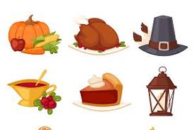 happy thanksgiving day icons illustrations creative market