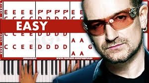 U2 In The City Of Blinding Lights City Of Blinding Lights U2 Piano Tutorial Easy Youtube