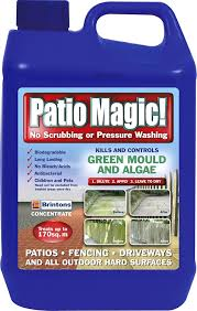 Patio Scrubber by Patio Magic Green Mould And Algae Killer Liquid Concentrate Bottle