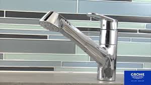 Pullout Kitchen Faucets Grohe 32946002 Europlus Dual Spray Pull Out Kitchen Faucet Youtube