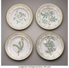 four porcelain dinner plates royal copenhagen lot 33775